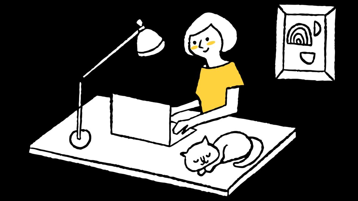 【働き方自由】ゆったりしたオフィス空間で働くWebデザイナー